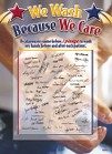 I Wash Because I Care Infection Prevention Poster